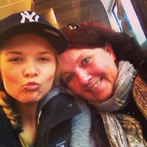 Tuva og meg på tur til Bergen.