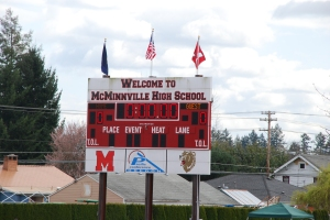 Idrettsdag og konkurranse mellom fire nærliggende highschools.