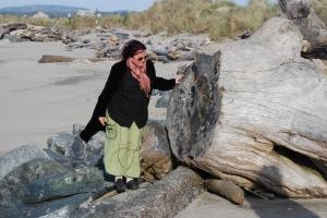 Stranda med skipsvrak er som sunket i jorden. Pling! Drived er det imidlertid nok av.
