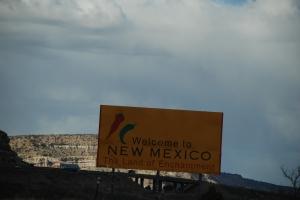 Det er kaldt i New Mexico. Kun tre grader.
