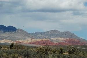 Red rocks, slående vakkert.