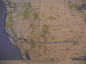 Den mørkeblå streken: Så langt har vi kommet. Den lyseblå: Så langt skal vi :-) Omtrent halvveis.