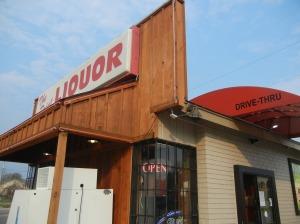 Drive thru liquor.